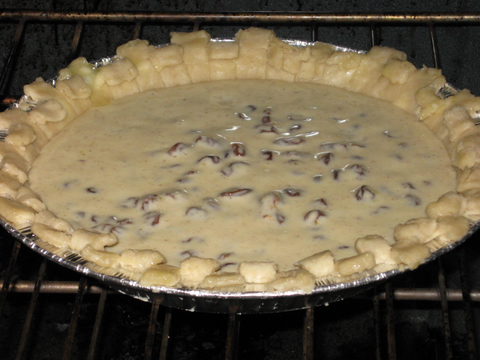 Unbaked Sour Cream Raisin Pie