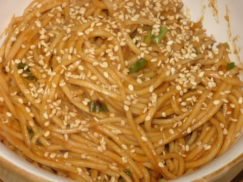 Spicy Peanut and Sesame Noodles